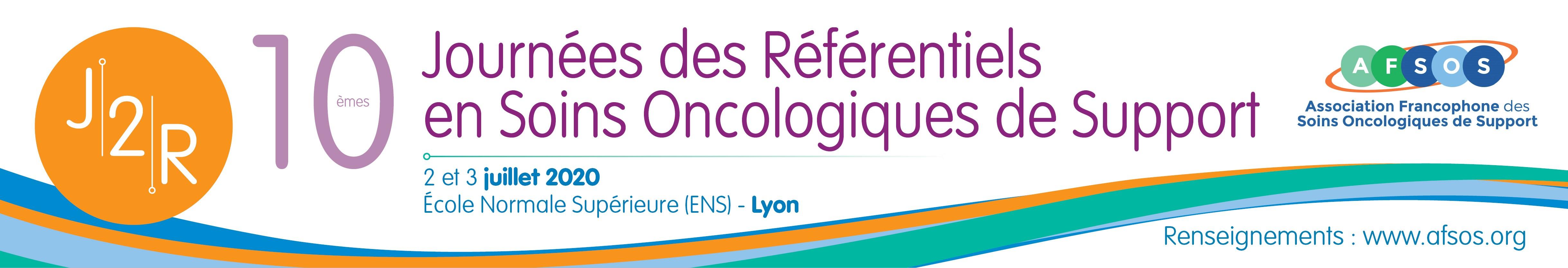 J2R - 10emes Journées des Référentiels en Soins Oncologiques de Support